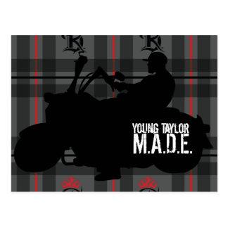 Carte Postale Jeune affiche de moto de Taylor M.A.D.E.
