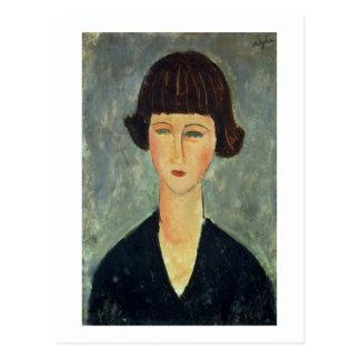 Carte Postale Jeune Brunette, 1917 (huile sur la toile)