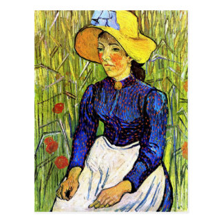 Carte Postale Jeune fille rurale par Vincent van Gogh 1890