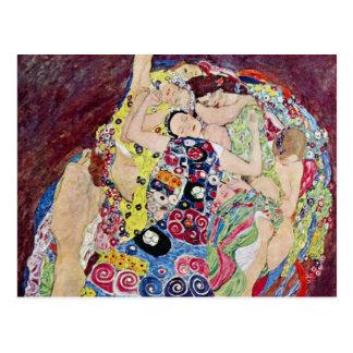 Carte Postale Jeune fille (Vierge), Gustav Klimt, art vintage