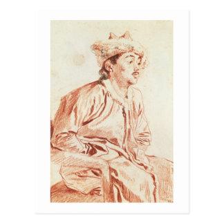 Carte Postale Jeune homme dans le costume oriental (dessin)