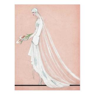 Carte Postale jeune mariée des années 1920