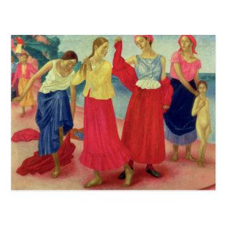 Carte Postale Jeunes femmes sur le Volga, 1915