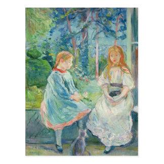 Carte Postale Jeunes filles à la fenêtre, 1892