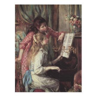 Carte Postale Jeunes filles au piano par Pierre Renoir