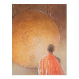 Carte Postale Jeunes moine bouddhiste et gong Bhutan 2010