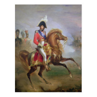 Carte Postale Joachim Murat à cheval, 1814-15