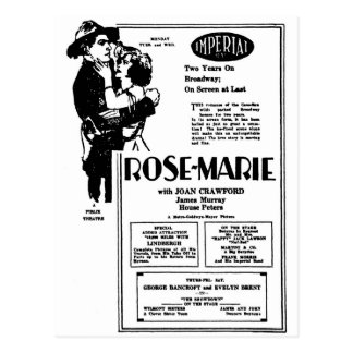 Carte Postale Joan Crawford Rosemarie 1928