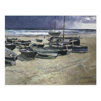 Carte Postale Joaquin Sorolla - jour de la tempête, Valence