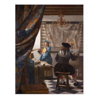 Carte Postale Johannes Vermeer - allégorie de l'art de la