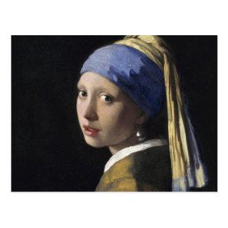 Carte Postale Johannes Vermeer - fille avec une boucle d'oreille