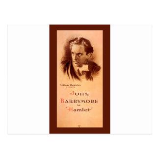Carte Postale John Barrymore dans Hamlet Broadway 1922