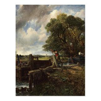 Carte Postale John Constable - la serrure - paysage de campagne