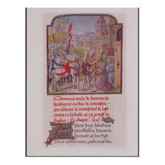 Carte Postale John de décharné reçu par les citoyens
