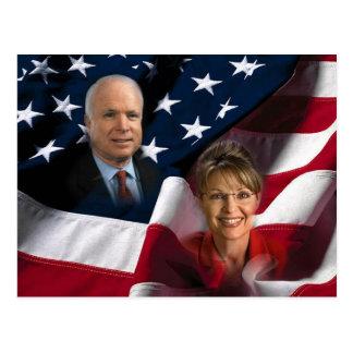 Carte Postale John McCain et Sarah Palin, 2008 élections