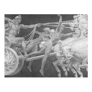 Carte Postale John Sargent- Apollo dans son char avec les heures