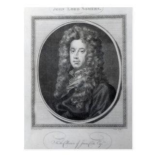 Carte Postale John, seigneur Somers, gravé par John Golder, 1785