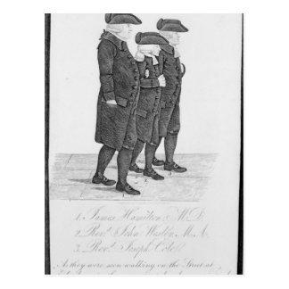 Carte Postale John Wesley marchant à Edimbourg entre James