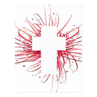 Carte Postale JOIE ! dans la croix