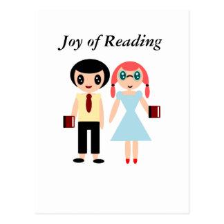 Carte Postale Joie de la lecture