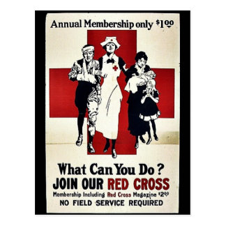 Carte Postale Joignez notre Croix-Rouge