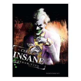 Carte Postale Joker - aliéné certifié