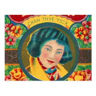 Carte Postale Jolie marque de fille de rétro pétard vintage de