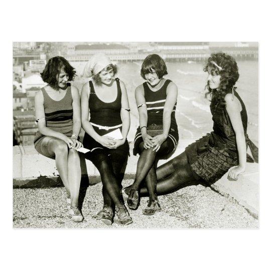Carte Postale Jolies filles, les années 1920