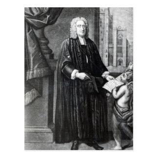 Carte Postale Jonathan Swift, gravé par Andrew Miller, 1743