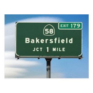 Carte Postale Jonction de Bakersfield de la route 58 de CA