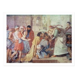 Carte Postale Joseph a reconnu par ses frères