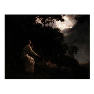 Carte Postale Joseph Wright Madame dans Comus de Milton