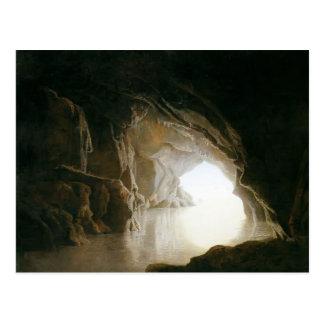 Carte Postale Joseph Wright une caverne, même