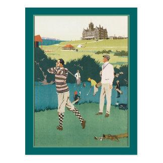 Carte Postale Jouer au golf au club
