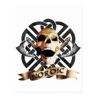 Carte Postale jouer du rock skull