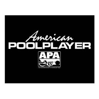 Carte Postale Joueur américain de piscine - blanc