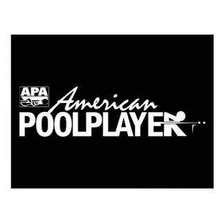Carte Postale Joueur américain fait sur commande de piscine -
