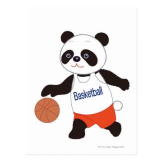 Carte Postale Joueur de basket de panda ruisselant