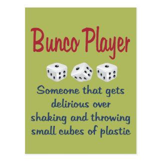 Carte Postale Joueur de Bunco - définition