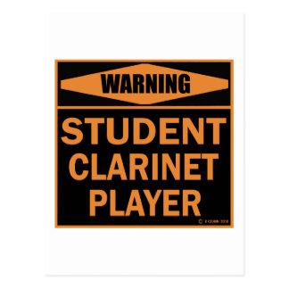 Carte Postale Joueur de clarinette d'étudiant