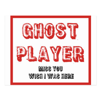 Carte Postale joueur de fantôme de bunco