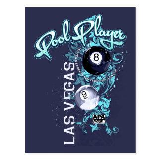 Carte Postale Joueur de piscine en filigrane