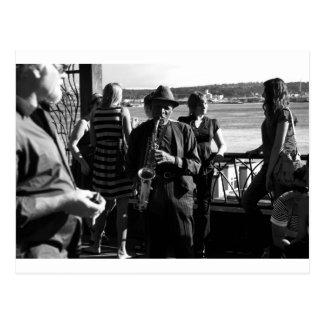 Carte Postale Joueur de saxophone