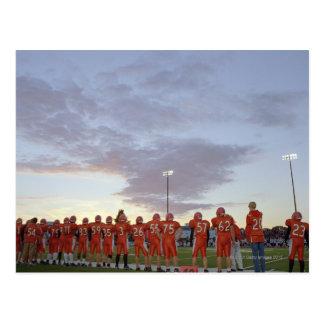 Carte Postale Joueurs de football américain comprenant des