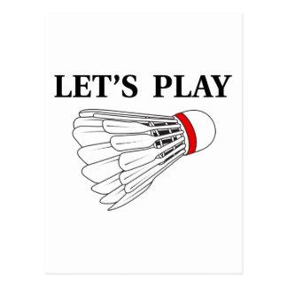 Carte Postale Jouons au badminton