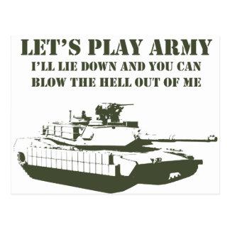 Carte Postale Jouons l'armée