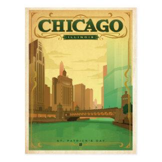 Carte Postale Jour de Chicago, IL - St Patrick