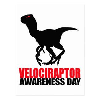 Carte Postale Jour de conscience de Velociraptor