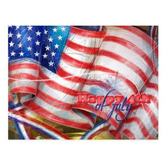 Carte Postale Jour de la Déclaration d'Indépendance et le