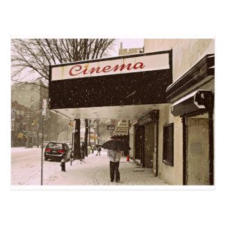 Carte Postale Jour de neige au cinéma